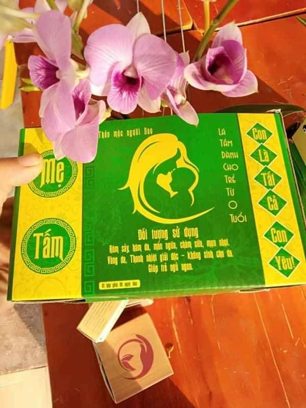 Lá tắm Bé Thanh Mộc Hương, trị Mụn nhọt, Rôm sẩy